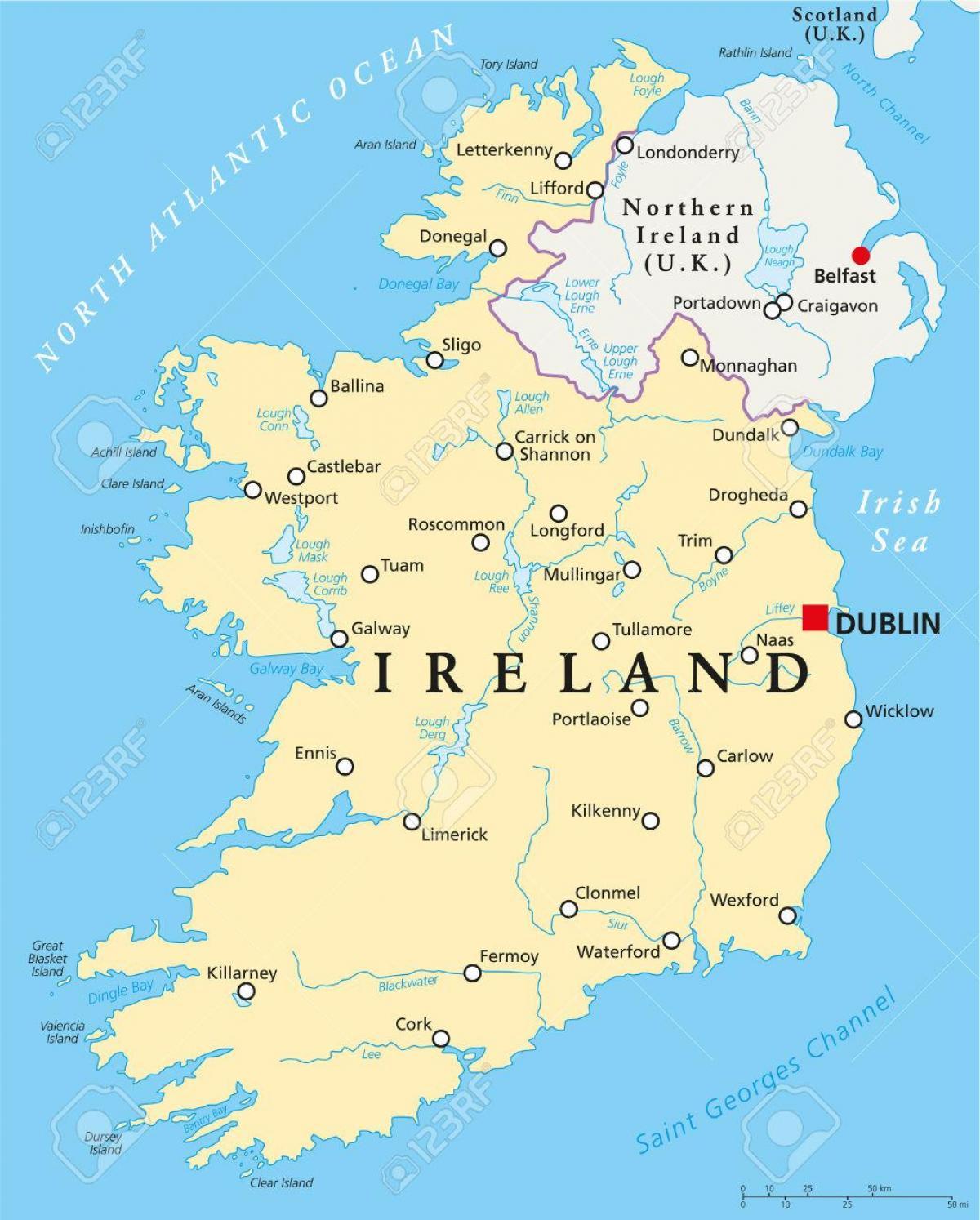 Dublin Irlanti Kartta Dublin Kartta Irlanti Irlanti