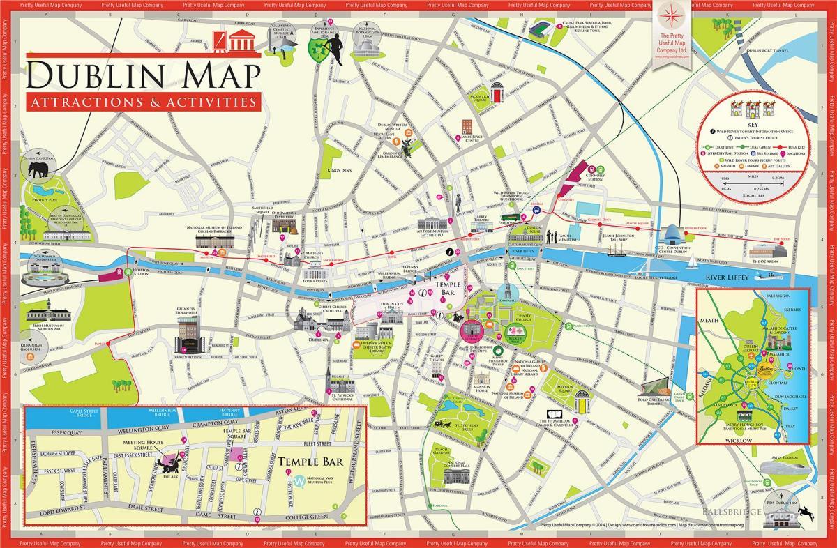Kartta Dublinin Keskustassa Dublin City Centre Kartta Irlanti